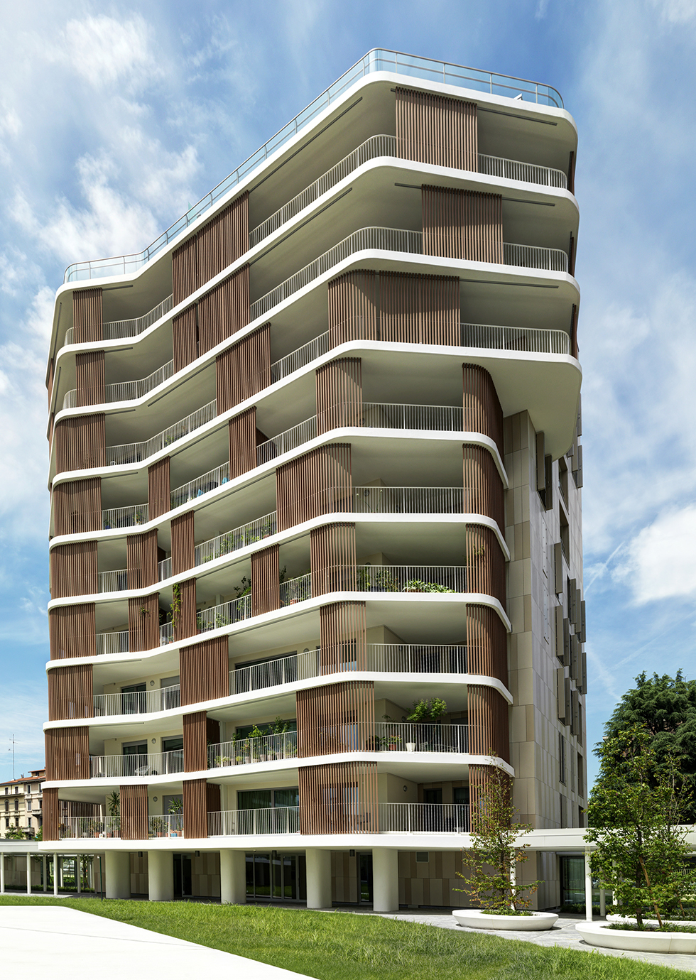 Via piranesi 44 residential towers milan italy mab for Apartment design italien
